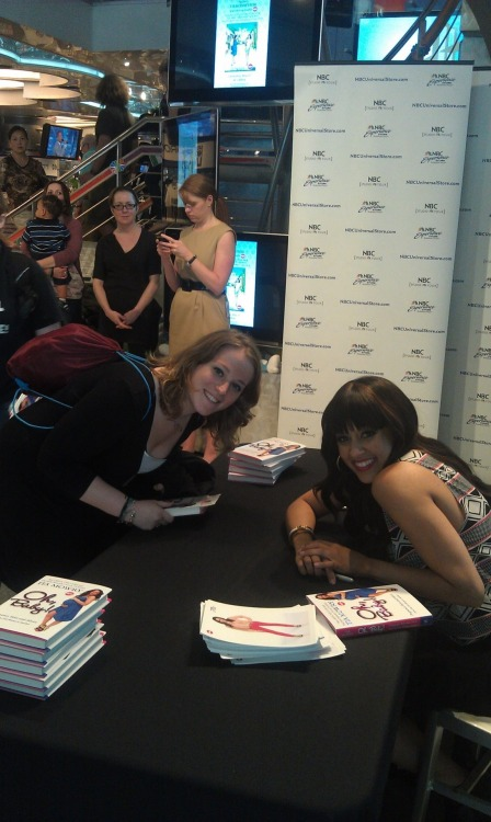 I met Tia Mowry at her book signing at NBC today. It was a great time! One day my sister and I will create a spin off of Sister, Sister. Just saying. =]