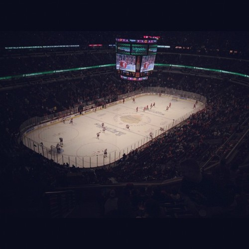 #hockey in #chicago - about 4 weeks ago  (Taken with instagram)