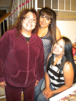 5-3-12 My mom, my sister & I on my mom's birthday <3