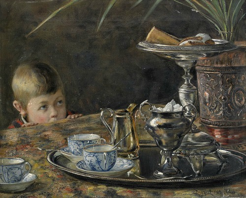 Robert Lundberg Tempted by the Coffee Tray 1888