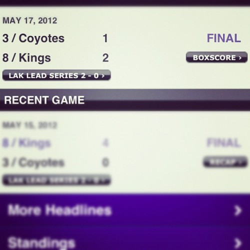 My @LAKings are 1 win away from taking the WC… I'm not sayin' we're winning the cup buuttt WE'RE TAKING THE CUP THIS YEAR!!! (Taken with instagram)