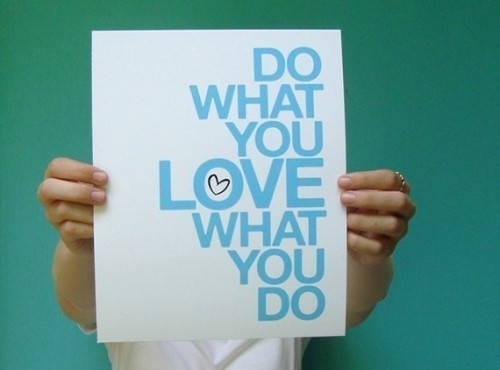 robot-heart:  (via do what you love blue 8x10 art print by letterhappy on Etsy)