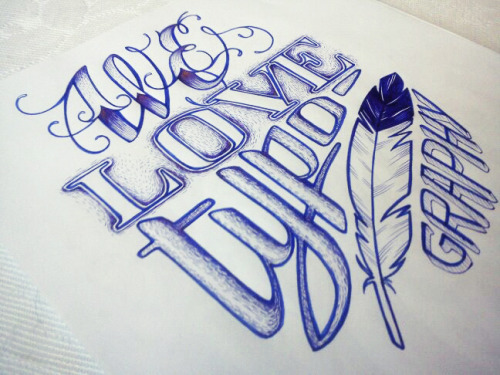 by9:  Love typography by ~anniecarter