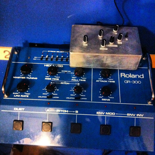 Our new modded and totally teched-out Roland GR 300 guitar synth!