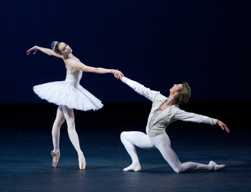 Olga Smirnova and Semyon Chudin in George Balanchine's Diamonds. Photo (c) Elena Fetisova/Bolshoi Theatre. Choreography (c) George Balanchine Trust.