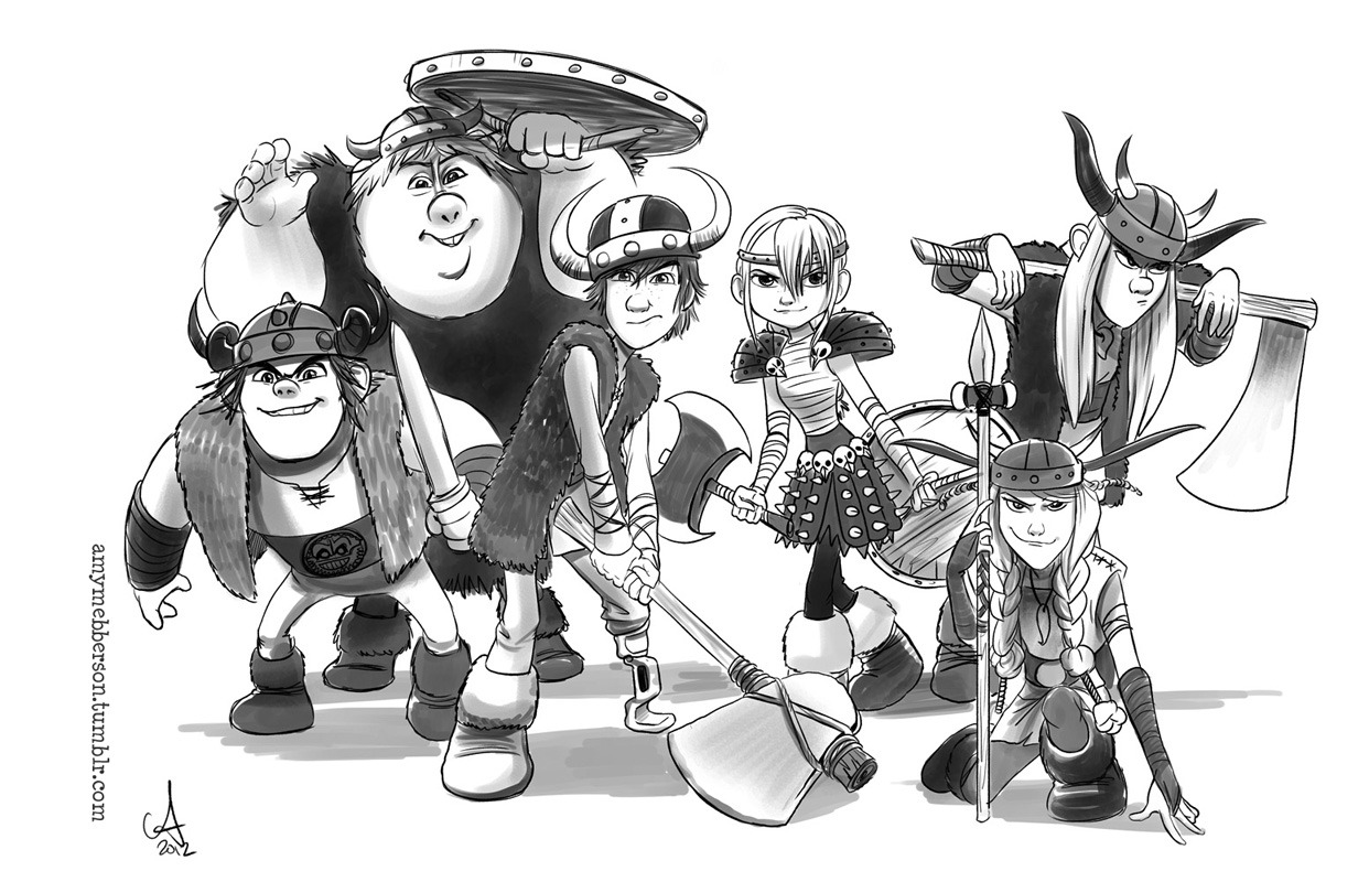 Just a bunch of kids with swords. Test sketch for… somethin'….