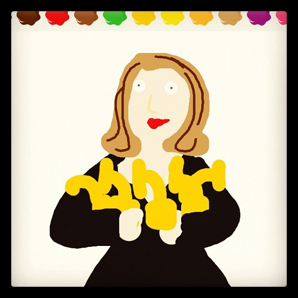 steven613:  ummm I is proud. #Adele #DrawSomething #Grammys (Taken with instagram)