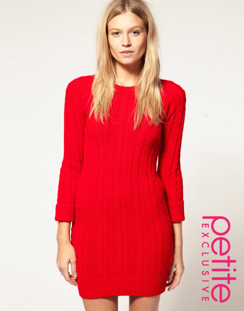 ASOS PETITE Exclusive Cable Jumper DressMore photos & another fashion brands: bit.ly/JgPXRU