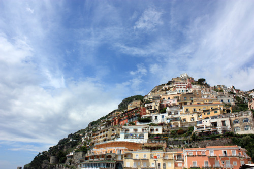 the skies over positano