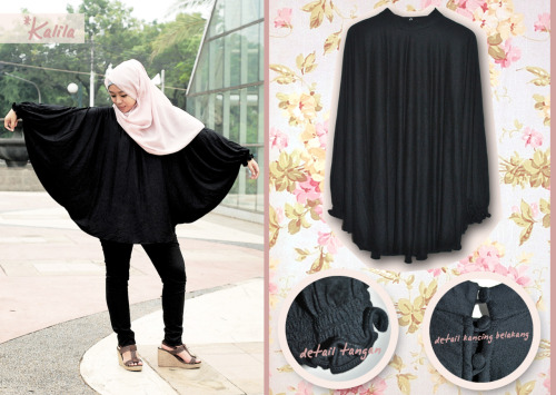 Hijab: Hadiya hijab Blouse: Kalita Black Batwing from House of Kalila Pants: Unbranded Shoes: Debenhams Senayan City