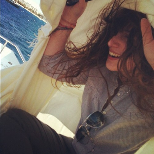 morgane-k:  Always braid your hair on a boat. It's windy. @ Cannes    Mon meilleure amie is at Cannes being cute and I am not. What a cruel world.