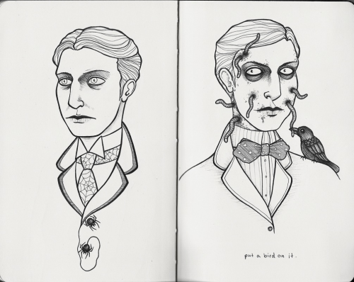 Fancy fellows. And that does it for this sketchbook.