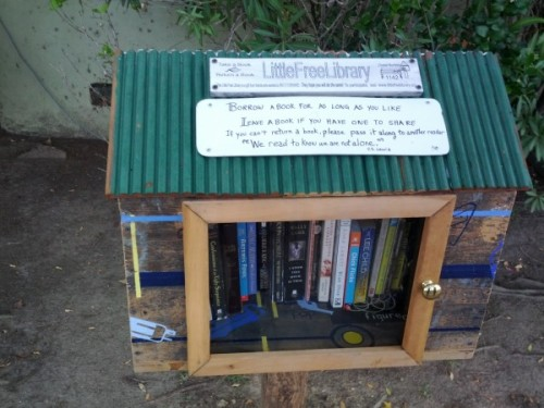 Little Free Libraries are so cute! Here is a map of them.