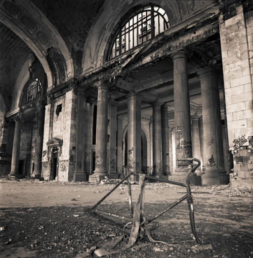 Michigan Central Station If they ever made a Fallout movie it should be set in Detroit. Most of the film set is already there