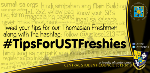 #TipsForUSTFreshies