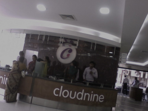 The Cloudnine Registration desk where PARAS HMIS made the process faster and more efficient