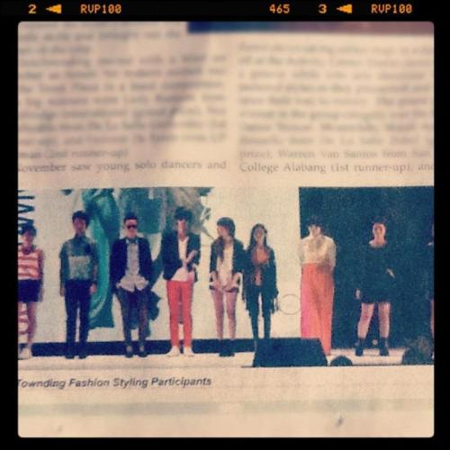 INSTAGRAMMED: WUHOO! Check my profile stance in Philippine Star! :) Love my Outstownding buddies forevs <3