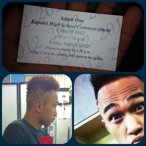 Got my tickets and my hair re-done. Now I just need a white long sleeve collared shirt before it's time. 13 years of school, now about to move on to 3-4 more years of college. Its gonna be a challenge this time though so we can't mess around too much. I wanna thank everyone who supported me and have influenced me all throughout high school. I wouldn't have done it without you guys. Alright Imma head to bed. Big day tomorrow :]