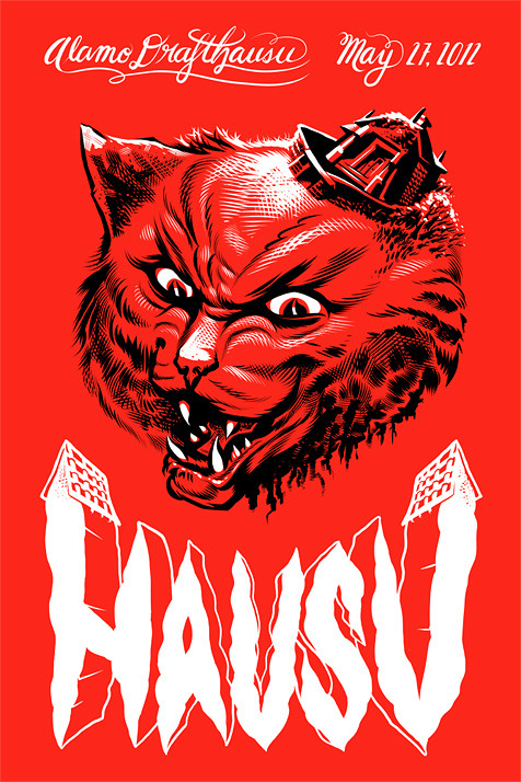 Incredible Hausu poster by artist Ray Frenden