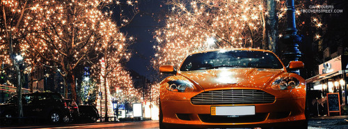 Christmas Time Aston Martin Facebook Cover