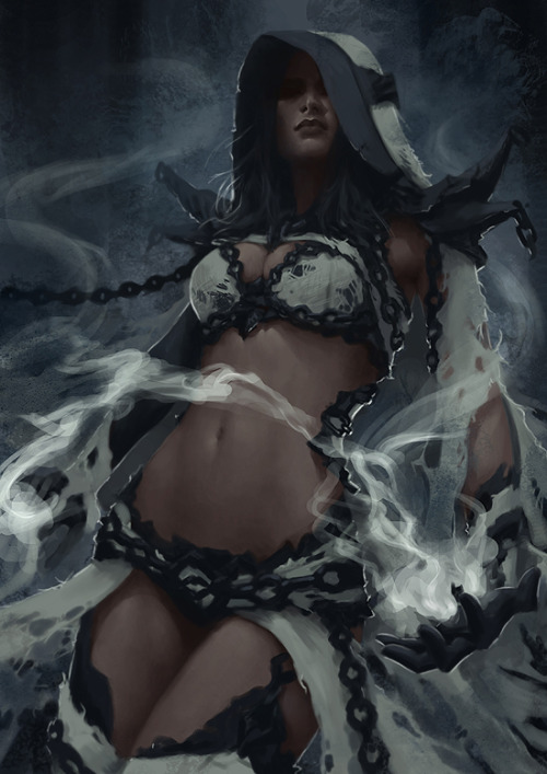 Dark Elf Mage - Concept 2 by ~Arsinoes