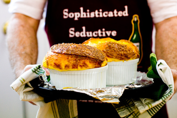 Time to rise up, get CHEESY, and eat a SOUFFLE! Happy Cheese Souffle Day!