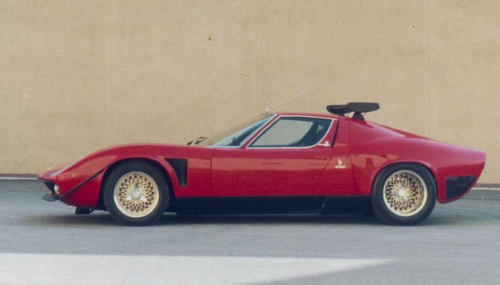 1975 Lamborghini Miura Jota SVR Based on a 1973 Miura SV, one of the Jota's replicas ( SVJ), named SVR, with BBS Wheels and a spoiler. Probably the most beautiful Miura SVJ. She's currently in japan.