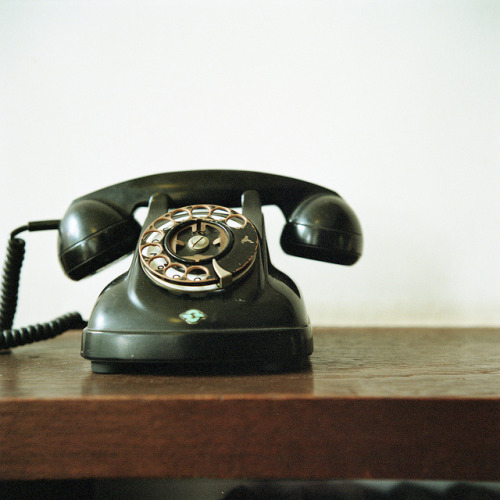 I love getting phone calls valscrapbook:  antique telephone* by Momota.M on Flickr.