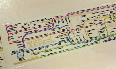 London Tube Map sticky tape (ZeroPerZero) via Mapping London