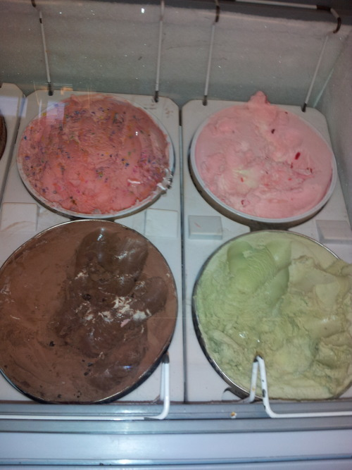 Ice cream flavors, Wagner College, cherry is so good.