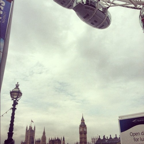 London eye and big ben. Iconic (Taken with Instagram at The London Eye)