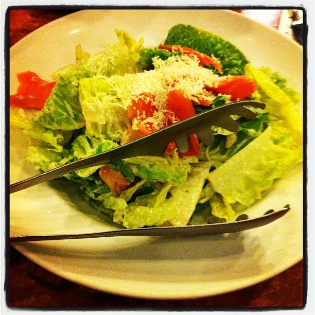 Ceasar Salmon Salad #food #salad #places #simba (Taken with Instagram at Fish & Co.)
