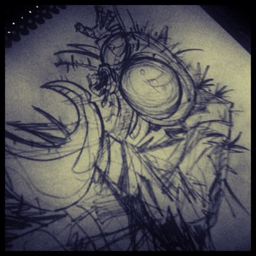 "Inspired by ""The Fly II"" classic scifi movie. #sketch #dibujo #draw #drawing #illustration #illustrator #ilustración #hgsantarriaga  #art #artwork #artprocess #wip #process #pencils #boceto #trazo #ink #sharpie #scifi #thefly #classic #movies"
