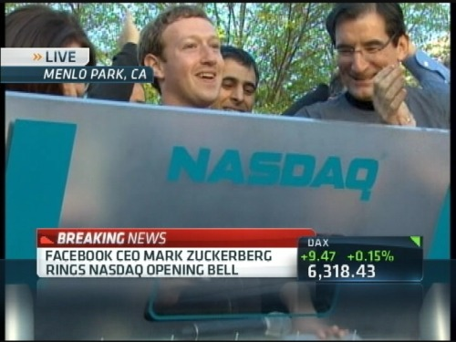 Zuckerberg just rang the bell! Only a couple hours until trading begins! Watch the video!