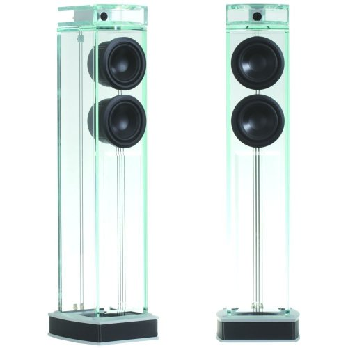 "thebeastfeed:  Waterfall Audio ""Niagara"" Diamond Glass Floor Standing Loudspeakers  Featuring 15mm High Density Diamond Glass which helps eliminate unwanted vibrations from the structure of the loudspeaker, therefore providing perfect sound reproduction. ""ADT"" (Acoustic Dampening Tube) allows proper functioning of a loudspeaker in a non-dampened structure, guarantees a quick, sharp bass and mid-range reproduction The Treble Frequency is reproduced by a new generation of Neodynium Magnet Tweeters, delivering a very smooth and delicate sound.  Check them out here."
