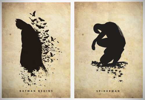 Superhero Silhouette Art