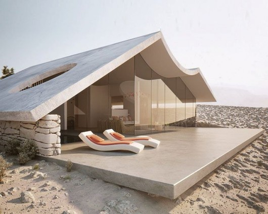 "foreignunderground:  Interesting Beach House. I love the way it has a ""rolling"" theme like with the waves against a beach."