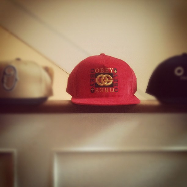 New #obey #snap #backs @wellgosh  (Taken with instagram)
