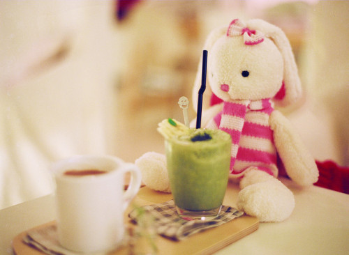 Pink the Rabbit at a Cafe by DK727 on Flickr.