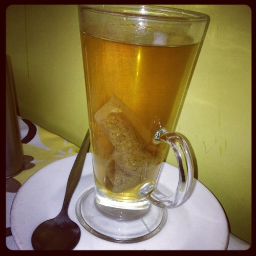 A young camomile tea while politicking is never a bad shout… (Taken with instagram)