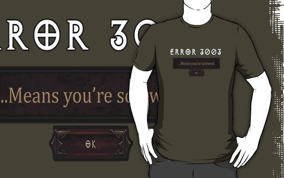 """Error 3003"" T-Shirts & Hoodies by Ameda Nowlin 