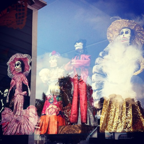 Amazing La Calavera Catrina dolls we found in Old Town, San Diego on the Madewell Denim Roadtrip.
