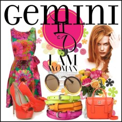 Gemini by marie-guzik-mcauley featuring a floral cocktail dress