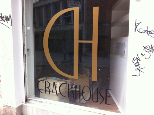 Empirical evidence that the right font can class up anything - even a crack house.