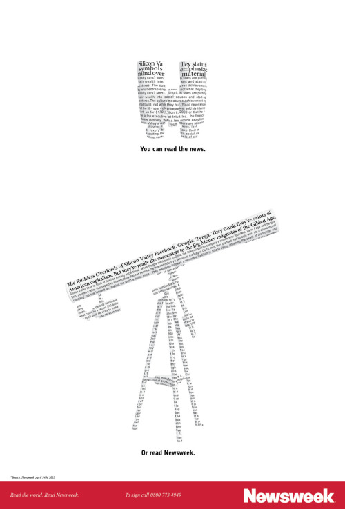 Newsweek advertising - Telescope.