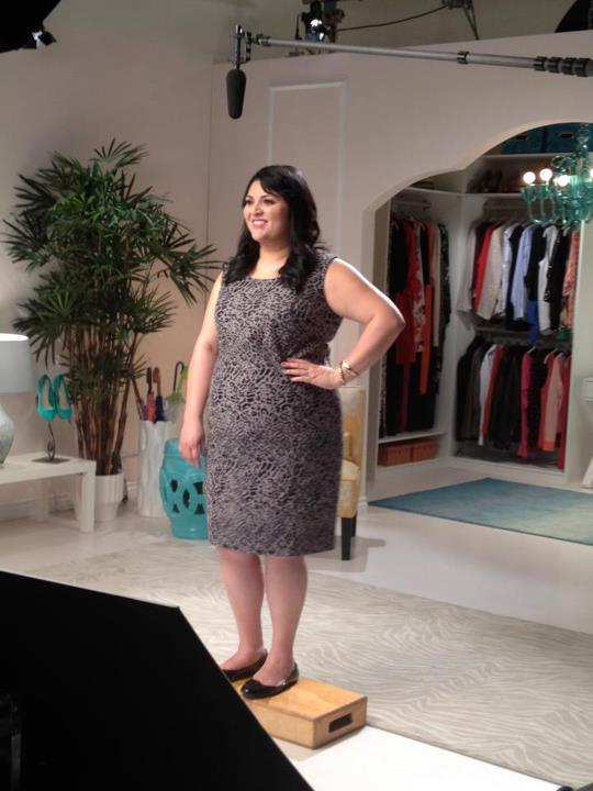 Shooting a whole episode in those peep-toe platforms was not happening! (Especially since we shot six eps a day!) Our Big Girl in a Skinny World crew got creative :-)