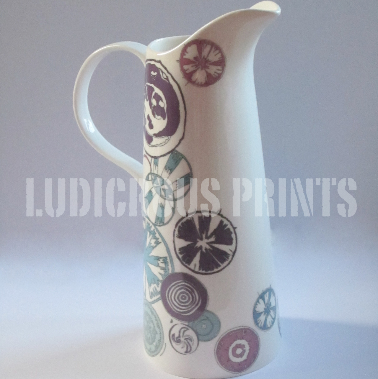 Garden Ceramics - Copyright Ludicrous Prints Inspired by garden pond life I have created this jug/ vase using my drawings and ceramic decals.