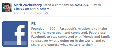 "TODAY ON THE INTERNET://13 Facebook has gone public, or, ""Zuckerberg secures place as future overlord"" [FinancialPost] [TechCrunch]"