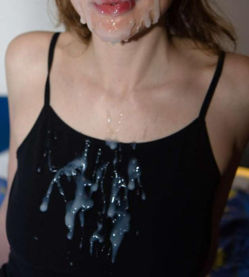 biggest-cum-facial-in-the-world:  Cum on clothes  A whole lot of cum. Yummy