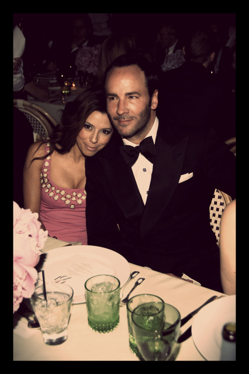 Eva Longoria and Tom Ford at the CFDA Awards in 2008